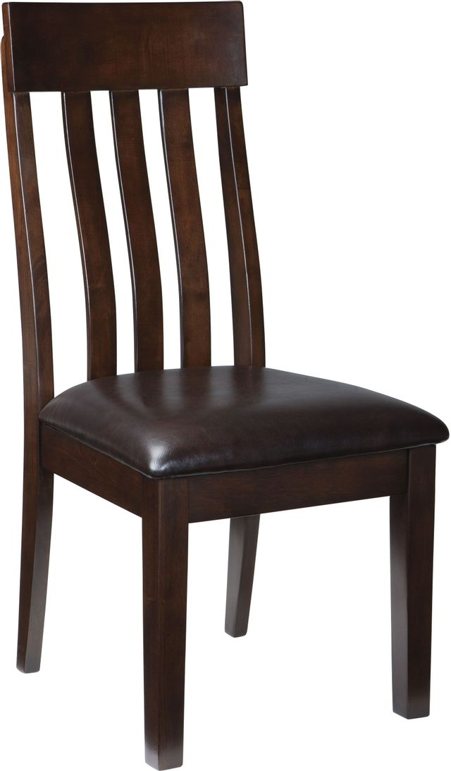 Signature Design by Ashley® Haddigan Dark Brown Dining Upholstered Side Chair-D596-01