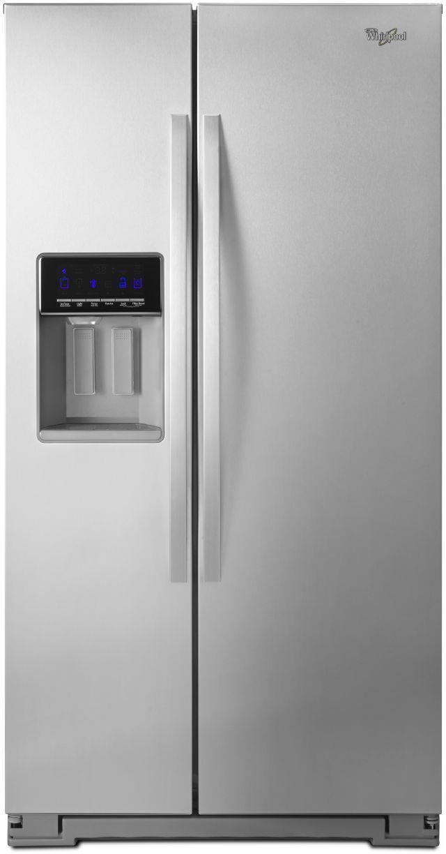 Whirlpool® 26.0 Cu. Ft. Side-By-Side Refrigerator-Monochromatic Stainless Steel-WRS586FIEM