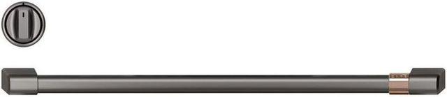 Café™ Brushed Black Pro Range Handle and Knob Kit-CXPR6HKPMBT