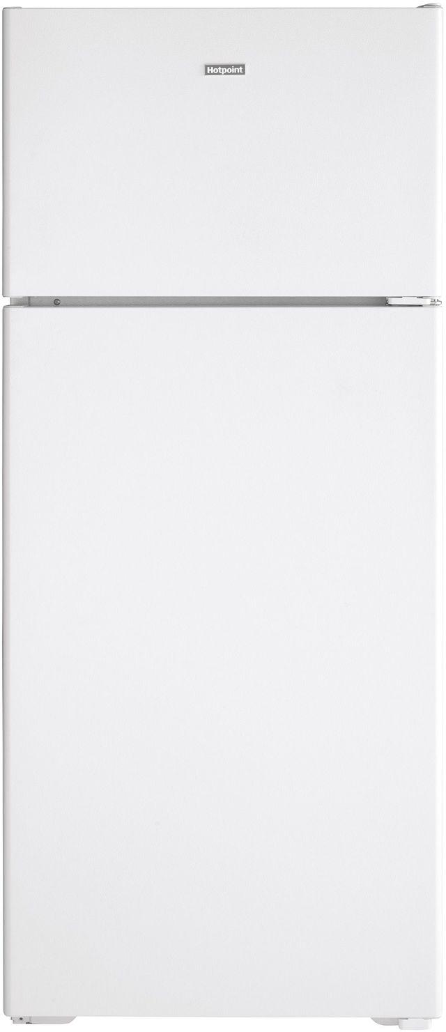 Hotpoint® 17.52 Cu. Ft. White Top Freezer Refrigerator-HPS18BTNRWW