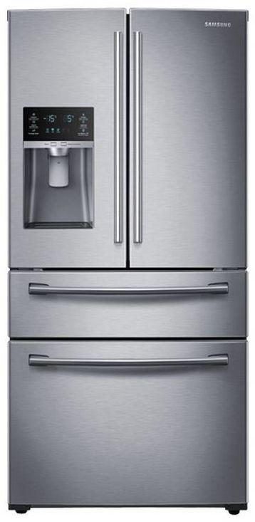 Samsung 28 Cu. Ft. 4-Door French Door Refrigerator-Stainless Steel-RF28HMEDBSR