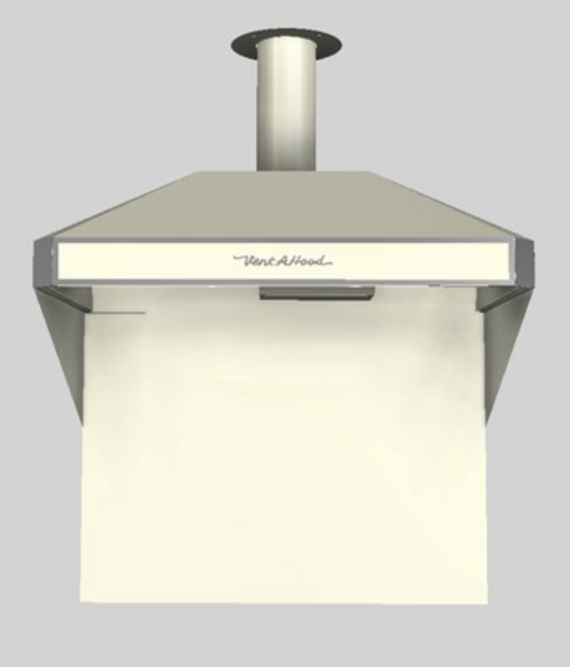 """Vent-A-Hood® A Series 42"""" Retro Style Wall Mounted Range Hood-Biscuit-AH12-142 BT"""