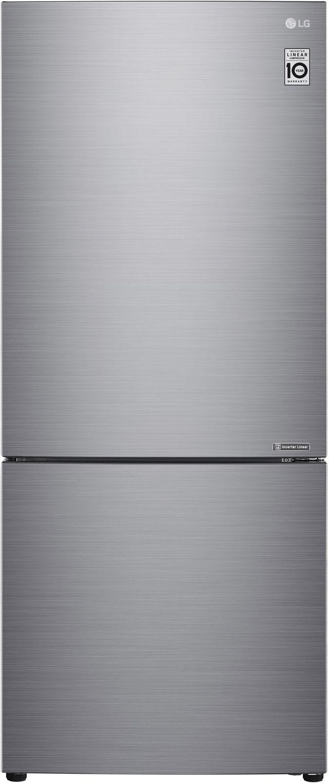 LG 14.7 Cu. Ft. Platinum Silver PCM Counter Depth Bottom Freezer Refrigerator-LBNC15231V