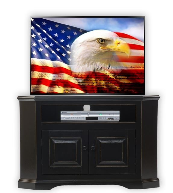 American Heartland Poplar Corner TV Stand-95730