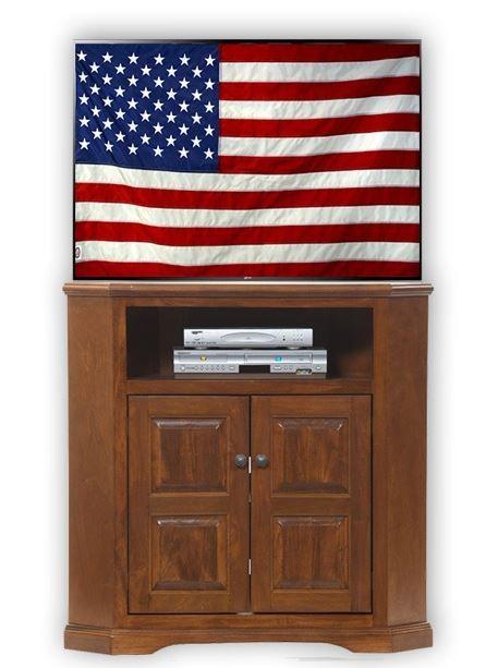 American Heartland Poplar Tall Corner TV Stand-95734