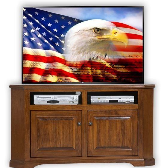 American Heartland Poplar Corner TV Stand-95744