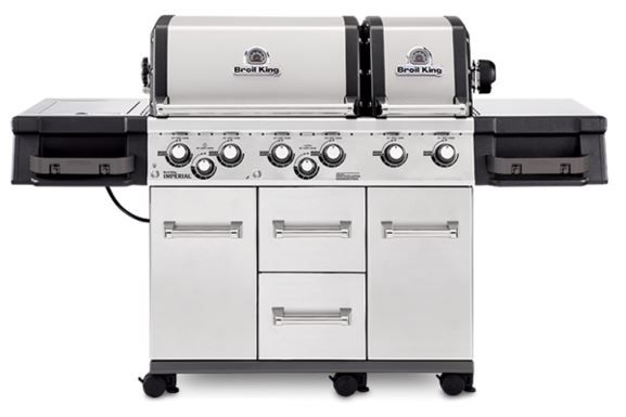 """Broil King® Imperial™ XLS Series 24.8"""" Stainless Steel Freestanding Grill-957884"""