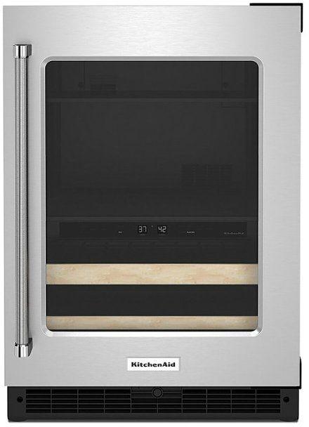 KitchenAid® 4.89 Cu. Ft. Stainless Steel Frame Beverage Center-KUBR214KSB