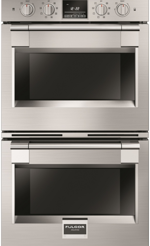 """Fulgor® Milano 600 Series PRO 30"""" Double Electric Wall Oven-Stainless Steel-F6PDP30S1"""