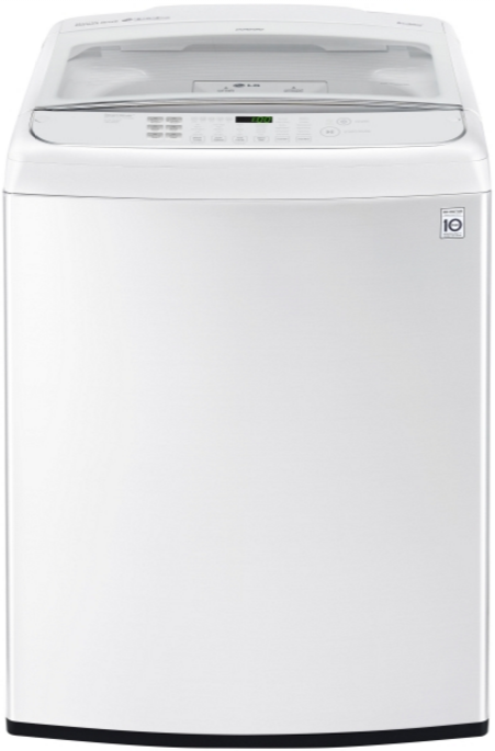 LG 5.0 cu. ft. Large Smart Wi-Fi Enabled Front Control Top Load Washer with TurboWash®-WT1901CW