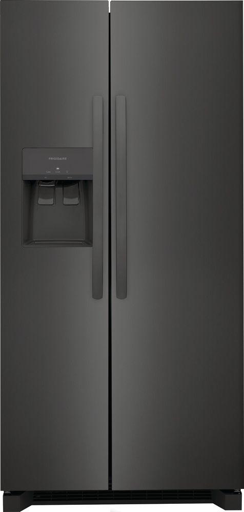 Frigidaire® 22.2 Cu. Ft. Black Stainless Steel Standard Depth Side-by-Side Refrigerator-FRSS2323AD