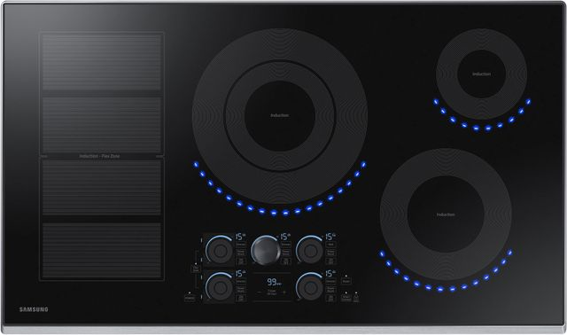 """Samsung 36"""" Induction Cooktop-Stainless Steel-NZ36K7880US"""
