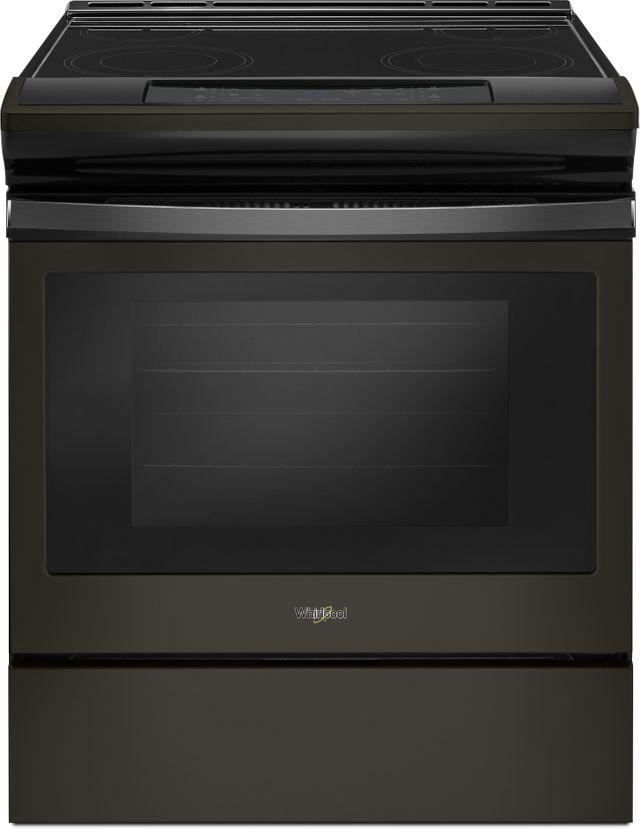 "Whirlpool® 30"" Slide In Electric Range-Fingerprint Resistant Black Stainless-WEE510S0FV"
