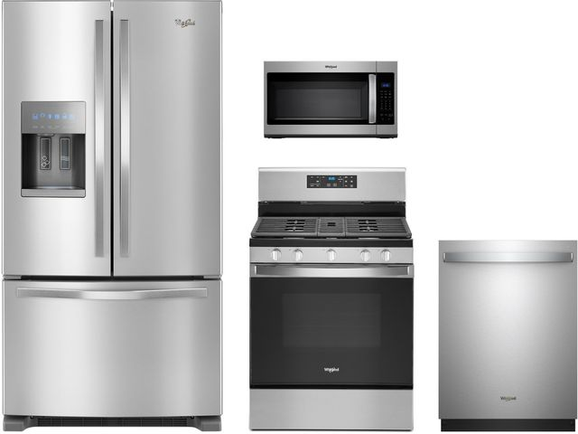 Whirlpool® 4 Piece Fingerprint Resistant Stainless Steel Kitchen Package-WHKITWMH31017HZ
