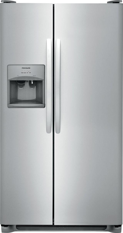 Frigidaire® 22 Cu. Ft. Stainless Steel Standard Depth Side By Side Refrigerator-FFSS2315TS