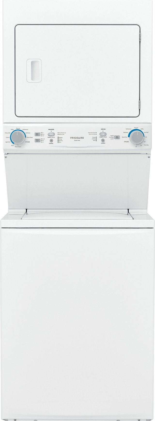 Frigidaire® 3.9 Cu. Ft. Washer, 5.6 Cu. Ft. Dryer White Electric Stack Laundry-FLCE7522AW