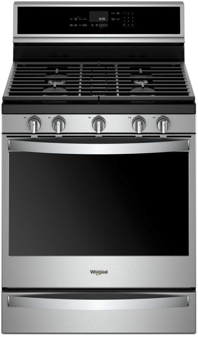 """Whirlpool® 30"""" Freestanding Gas Range-Fingerprint Resistant Stainless Steel-WFG975H0HZ"""