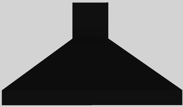 """Vent-A-Hood® 48"""" Euro-Style Wall Mounted Range Hood-Black-EPXH18-248 BL"""