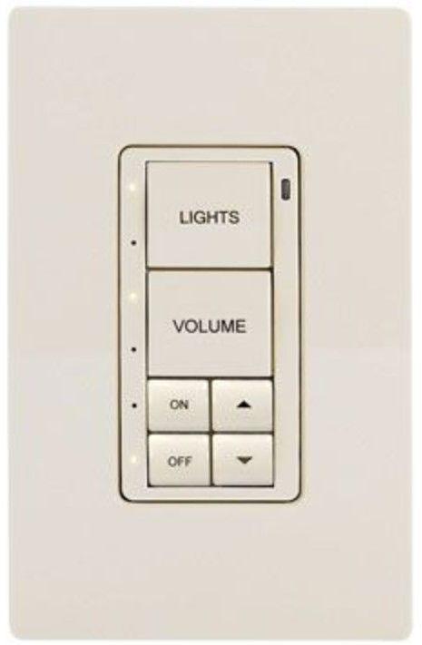 Crestron® Cameo® Almond Textured infiNet EX® 120V Wireless Keypad-INET-CBDEX-P-A-T