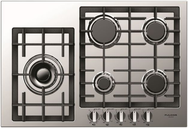 """Fulgor Milano® 400 Series 30"""" Gas Cooktop-Stainless Steel-F4GK30S1"""