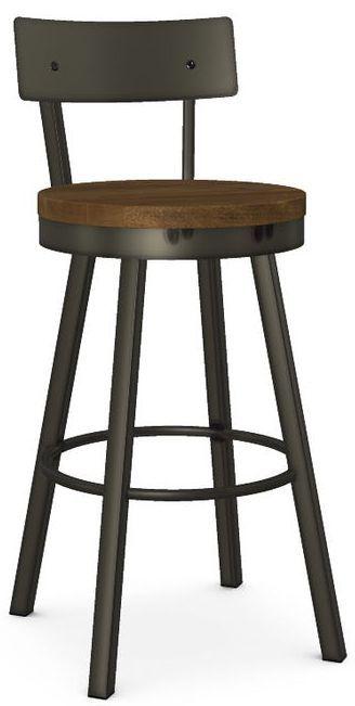Amisco Lauren Swivel Bar Stool-40593-30