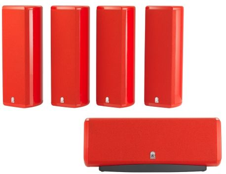 Revel® Concerta™ Series Red Gloss 5-Channel Home Theater Sound Support System-REVM8SP5RED