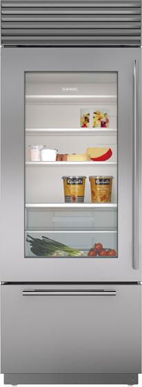 Sub-Zero® 17.3 Cu. Ft. Stainless Steel Built In Bottom Freezer Refrigerator-BI-30UG/S/PH-RH