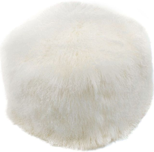 Moe's Home Collections Lamb Fur Pouf-XU-1009-24