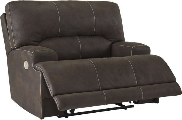 Signature Design by Ashley® Kitching Java Wide Seat Power Recliner-4160482