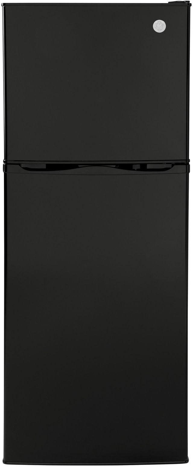 GE® 9.93 Cu. Ft. Black Top Freezer Refrigerator-GPV10FGNBB