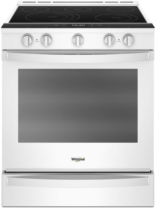 "Whirlpool® 30"" Smart Slide-In Electric Range-White-WEE750H0HW"