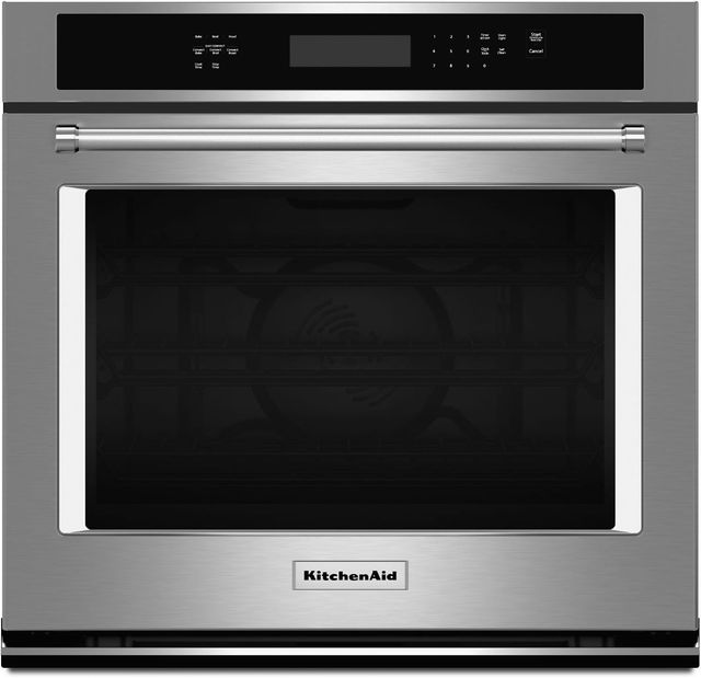 """KitchenAid® 27"""" Stainless Steel Electric Single Oven Built In-KOSE507ESS"""