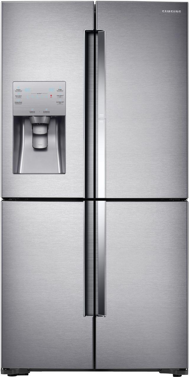 Samsung 22.0 Cu. Ft.Counter Depth 4-Door Flex™ Refrigerator-Fingerprint Resistant Stainless Steel-RF22K9381SR