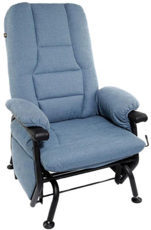 Fauteuil inclinable AGE en tissu bleu PEL International®-766027