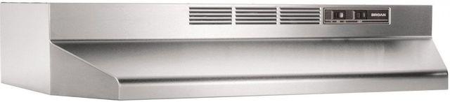 "Broan® Buez1 Series 30"" Stainless Steel Ductless Under Cabinet Range Hood-BUEZ130SS"