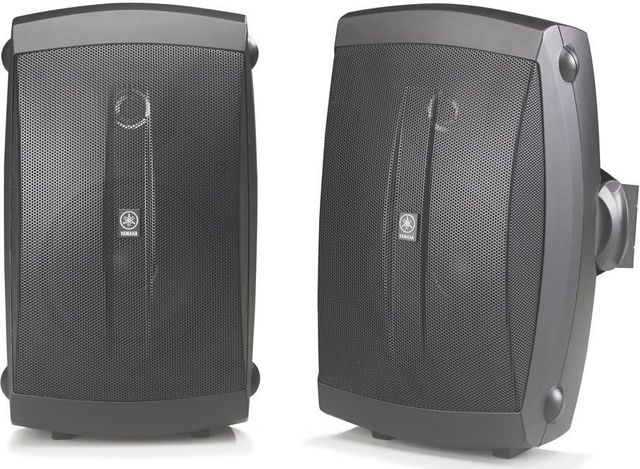 Yamaha Black Outdoor 2-Way Speakers-NS-AW150BL
