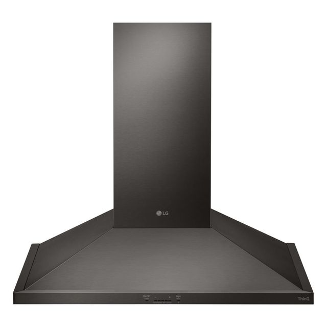 """LG 30"""" Black Stainless Steel Wall Mount Chimney Hood-HCED3015D"""