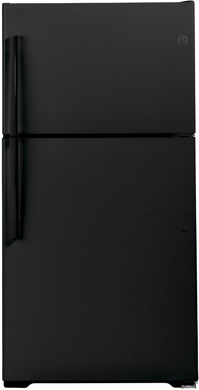 GE® 21.9 Cu. Ft. Black Top Freezer Refrigerator-GIE22JTNRBB