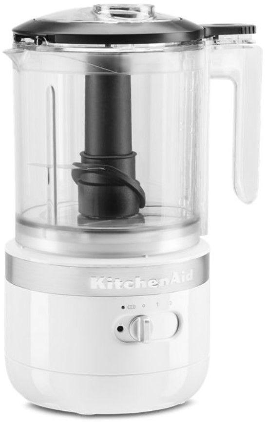 KitchenAid® 5 Cup White Cordless Food Processor-KFCB519WH