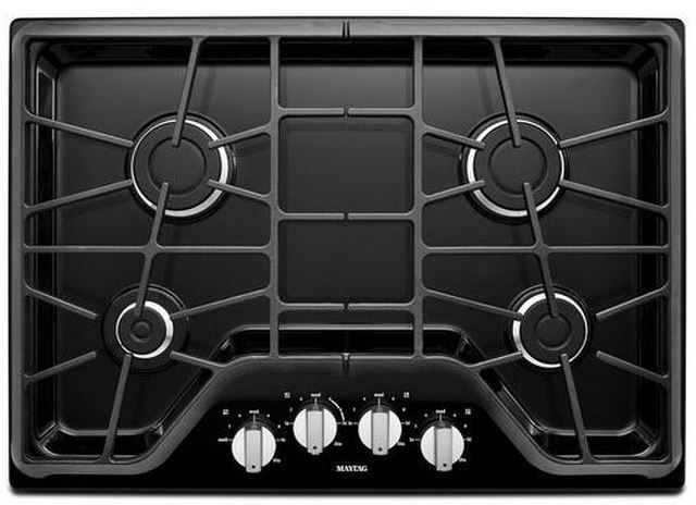 """Maytag 30"""" Gas Cooktop-Black-MGC7430DE"""