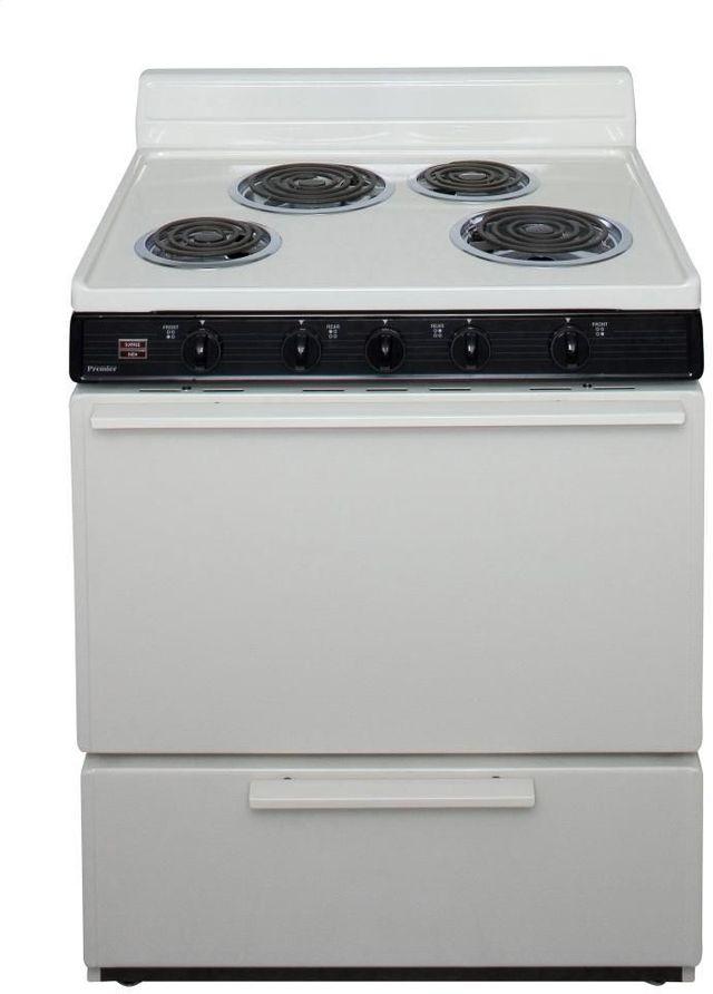 "Premier 30"" Biscuit Free Standing Electric Range-EDK100TP"