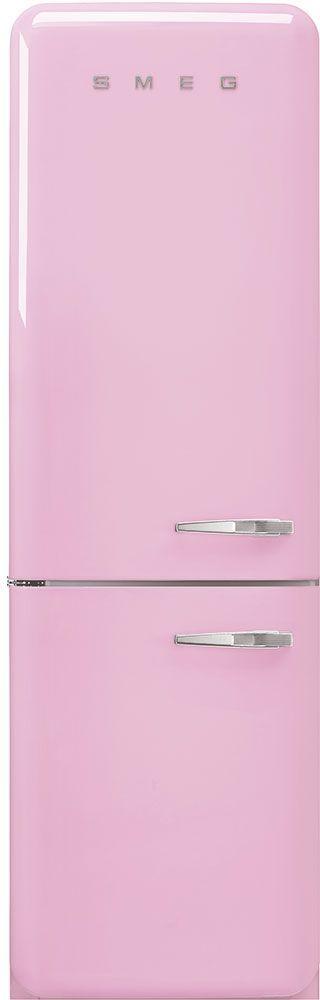 Smeg 50's Retro Style Aesthetic 11.69 Cu. Ft. Pink Bottom Freezer Refrigerator-FAB32ULPK3