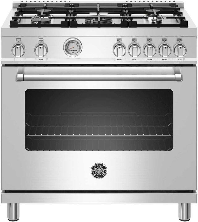 Cuisinière au gaz style Pro Bertazzoni® de 5,9 pi³ de 36 po - Acier inoxydable-MAST365GASXE