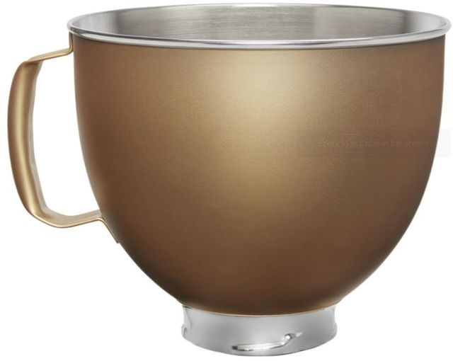KitchenAid® Gold 5 Quart Metallic Finish Stainless Steel Bowl-KSM5SSBVG