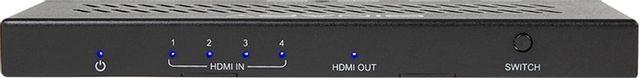 SnapAV Binary™ 260 Series Black 4x14K HDR SWITCH WITH IR-B-260-SWTCH-4X1