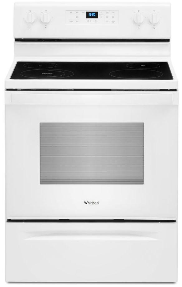 "Whirlpool® 30"" White Free Standing Electric Range-WFE515S0JW"