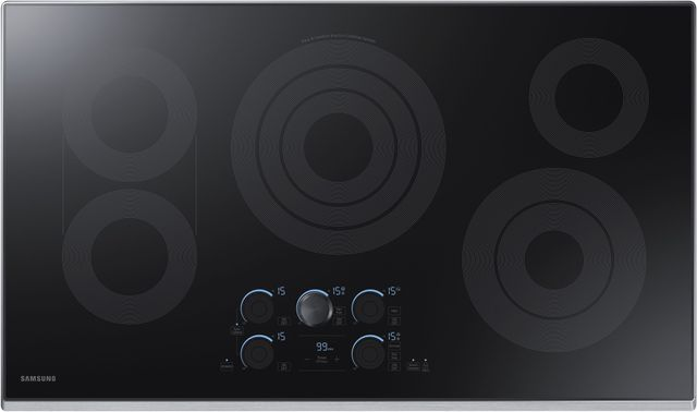 """Samsung 36"""" Electric Cooktop-Stainless Steel-NZ36K7570RS"""