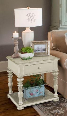 Paula Deen by Universal Furniture Linen Rectangular End Table-996802