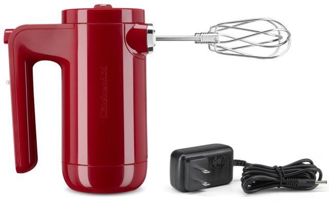 KitchenAid® 7 Speed Empire Red Cordless Hand Mixer-KHMB732ER