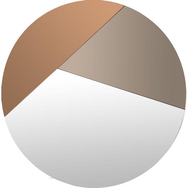 Miroir mural Novello, orange/bronze foncé, Renwil®-MT2092
